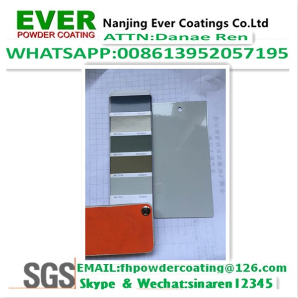 Ral7035 Grey Color Smooth Glossy Corona Powder Coating Paint