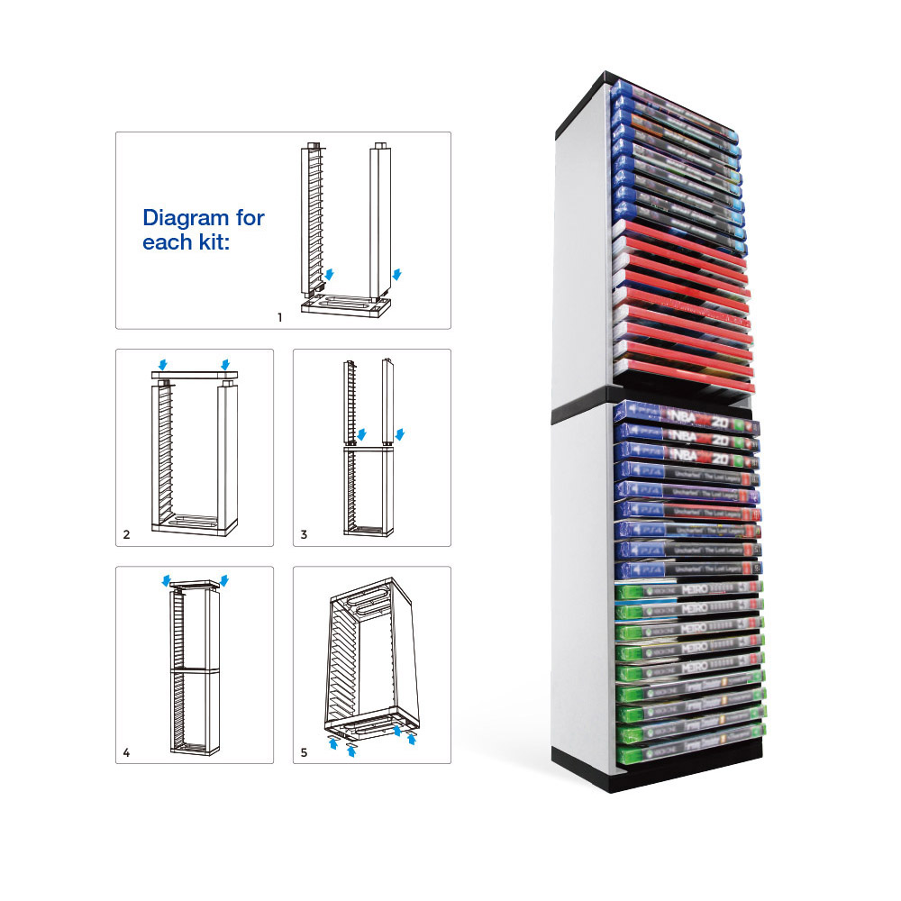 Storage Tower Stand Holder for PS5