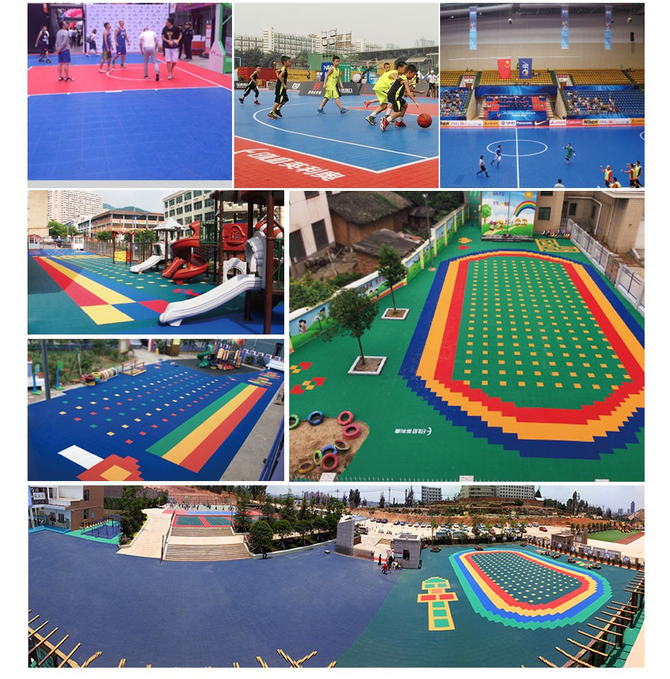 Interlock Tiles For Outdoor Kids Playground