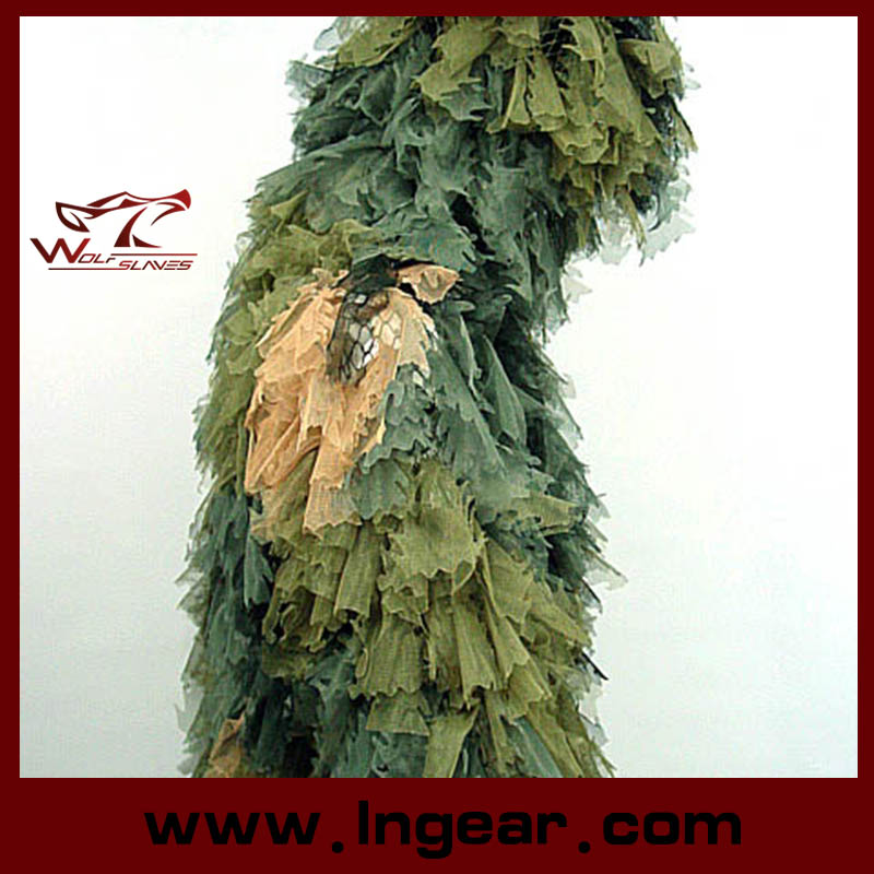 Camouflage Clothing Ghillie Suit Leaf Ghillie Suit for Wargame Use