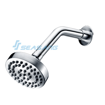 Bathroom Wall-Mounted Stainless Steel Water-Saving Round Shower Head