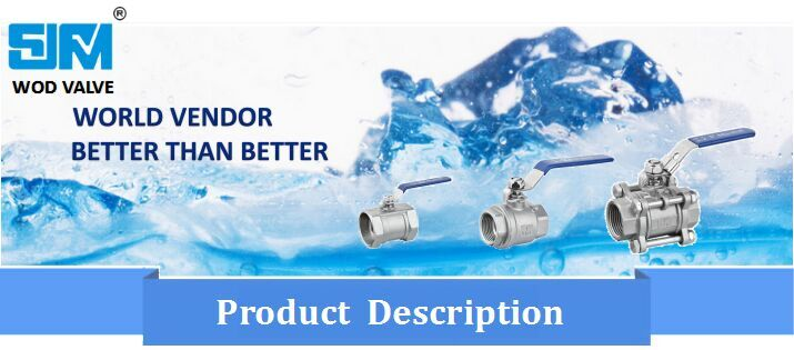 Stainless Steel 316 3 Way Ball Valve with Ce