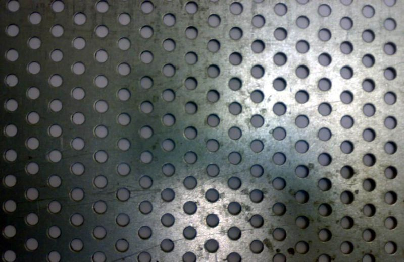 Aluminum Perforated Metal Sheet Round Hole 1mm