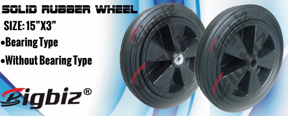 Qingdao High Quality Semi Pneumatic 5 Inch Rubber Wheel