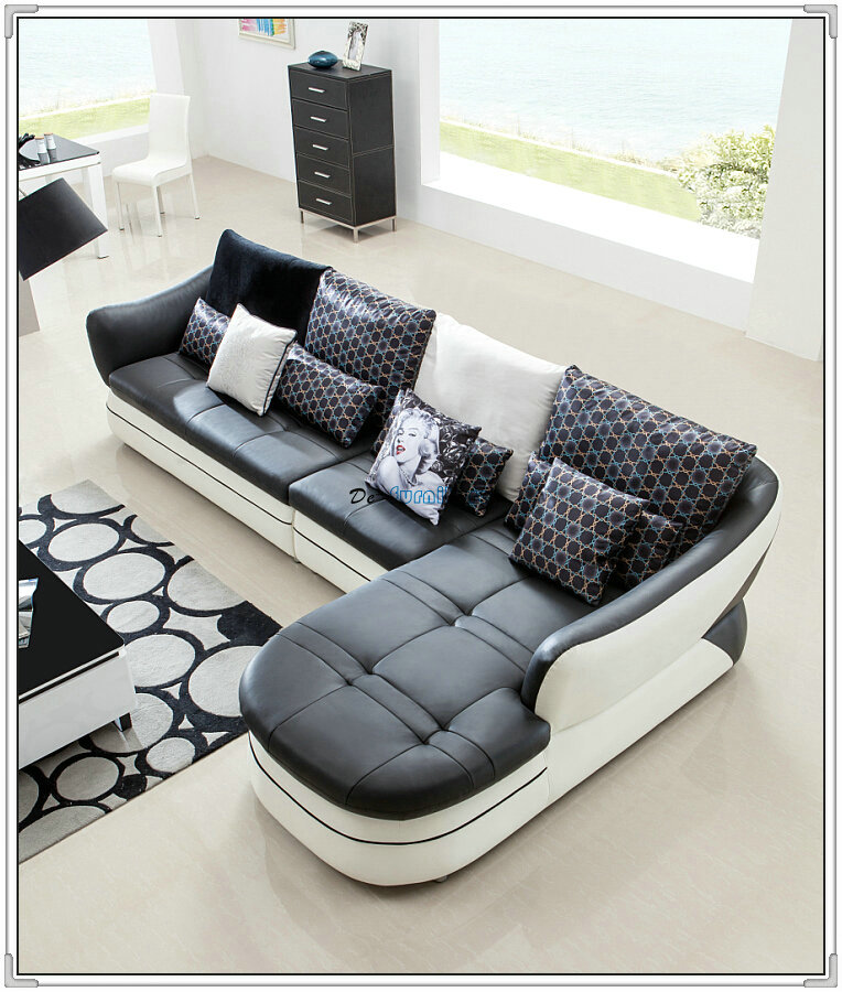 Red Color Cute Leather Sofa, Modern Sofa, Home Furniture (M303)