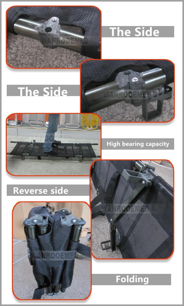 Ea-1d7 Medical Aluminum Folding Hospital Ambulance Stretcher for Sale