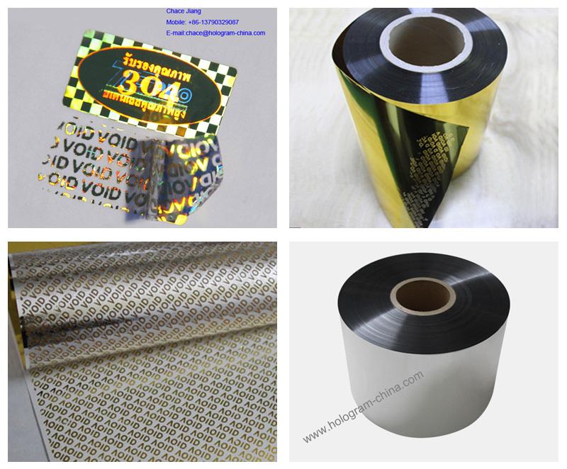 Tamper Evident Aluminum Void Foil