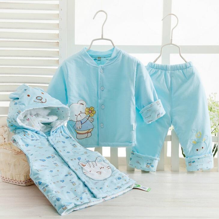 3PCS Baby Cotton Suit for Winter