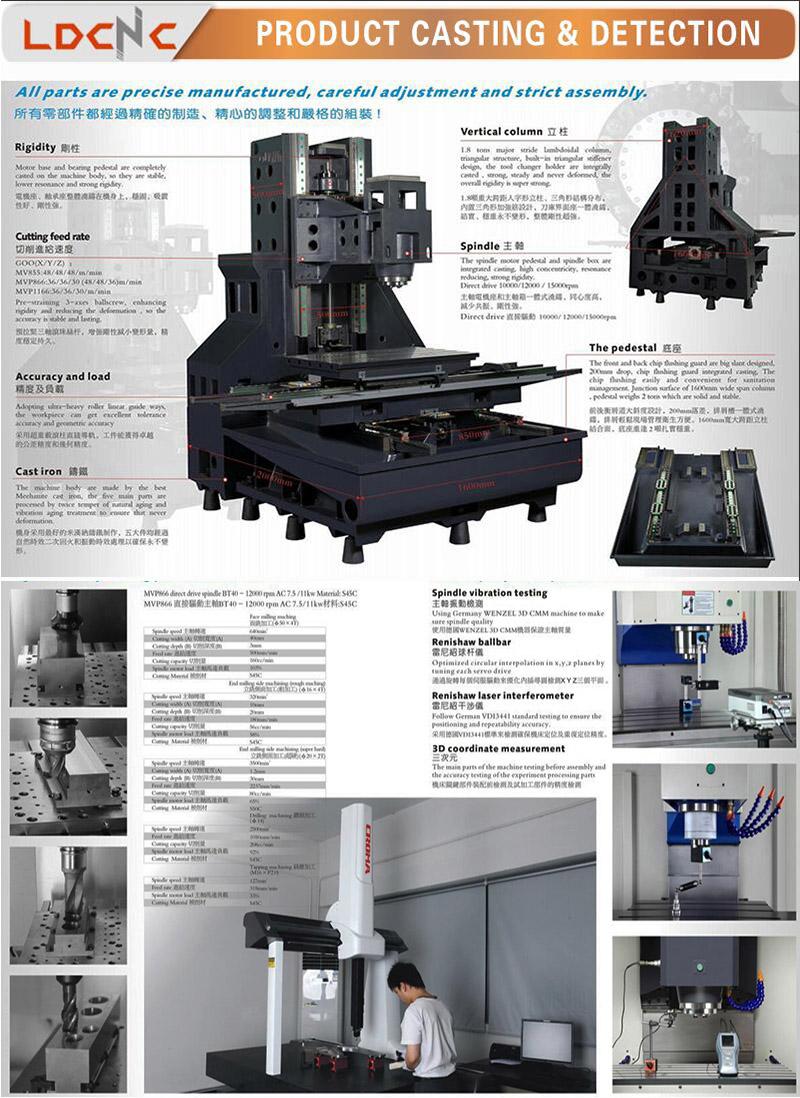 Vmc850 China High Accuracy 3 Axis CNC Vertical Machining Center