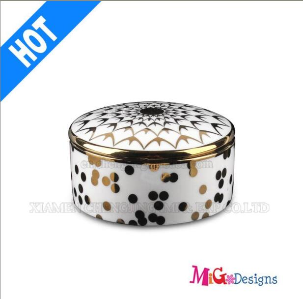 Fashion Wedding Gift Ceramic Jewelry Box
