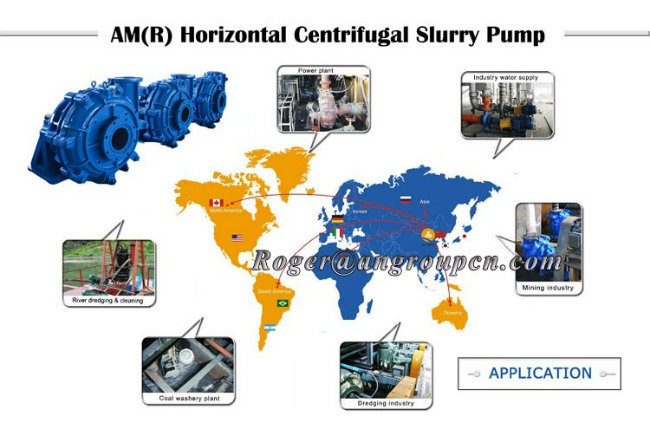 Ah Abrasive Heavy Duty Mining Industrial Horizontal Centrifugal Slurry Pump