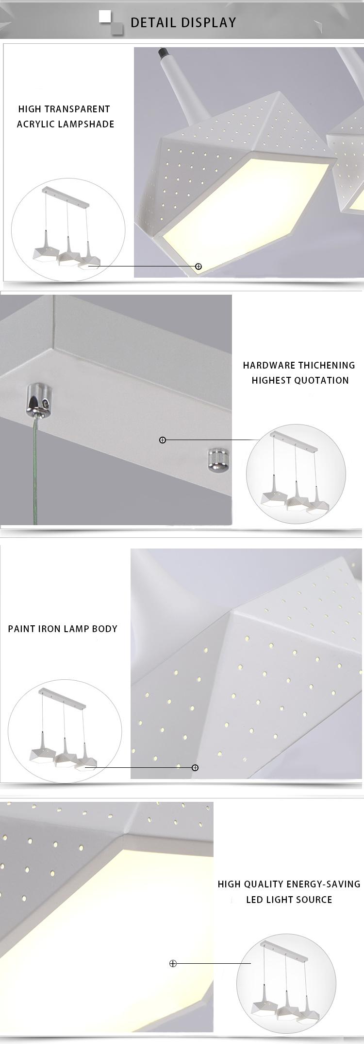 Factory Price Indoor Decorative Light LED Pendant Lighting
