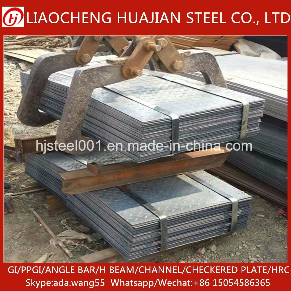 No Surface Treatment Q235 Grade Steel Checkered Plate