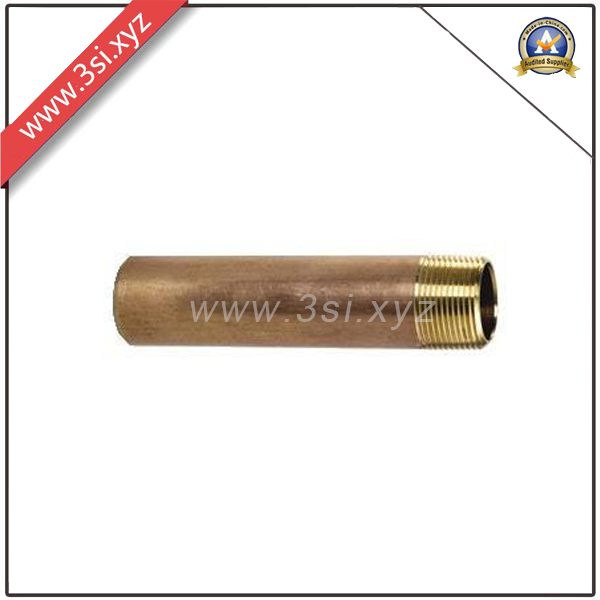 Brass Forged Threaded Pipe Fitting Nipple (YZF-PZ124)