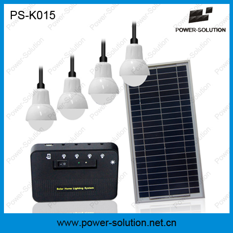 Solar Home Lighting System Lighting up 4 Rooms 6 Hours with 5200mAh Lithium Battery