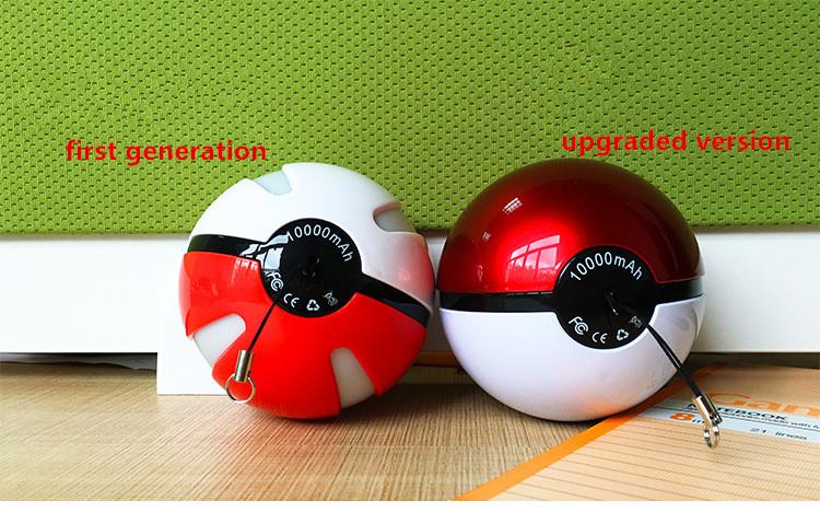 Factory Price 2016 Christmas Gift Pokemon Go Pokeball Power Bank