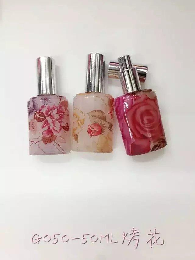 Mini Decorating Firing Perfume Fragrance Glass Bottles 15ml 20ml, 30ml, 50ml