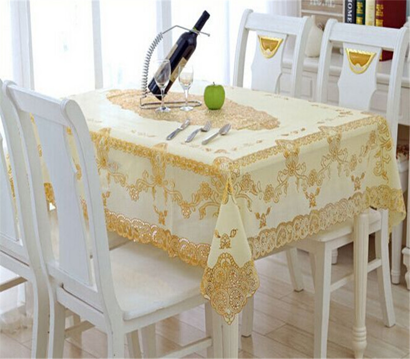 PVC Crochet Style Vinyl Lace Table Cloth