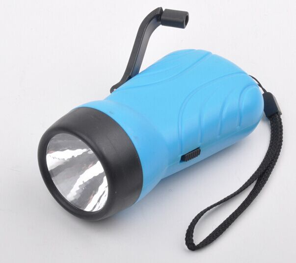 LED Wind up Crank Dynamo Rechargeable Flashlight