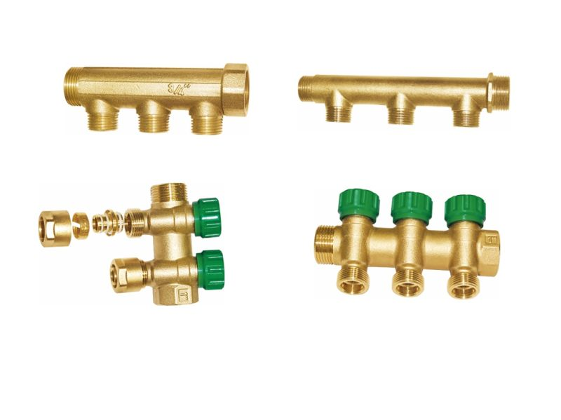 3-Way Brass Manifold with Handle for Water (a. 0183)