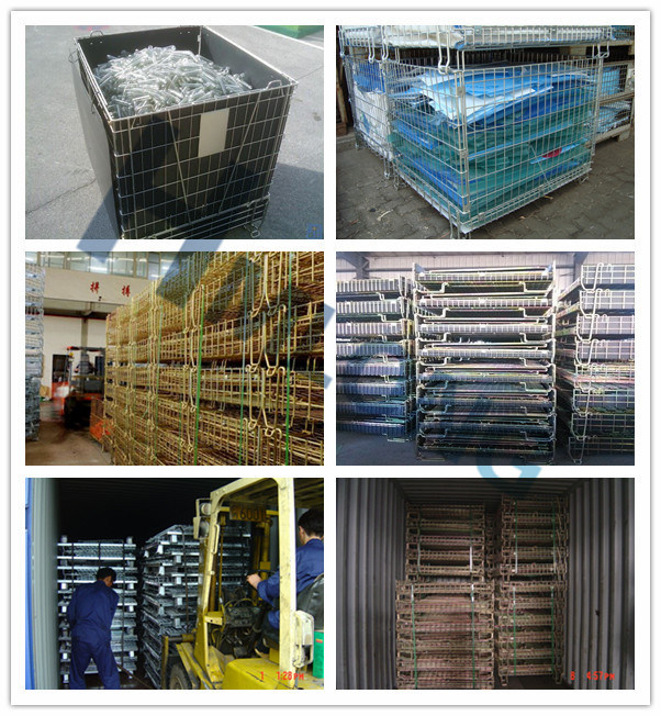 Collapsible Metal Folding Wire Mesh Cage for Storage