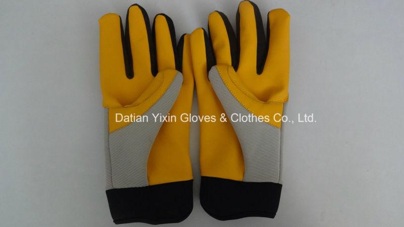 Mechanic Glove-Protective Glove-Leather Glove-Gloves-Working Leather Glove-Work Glove