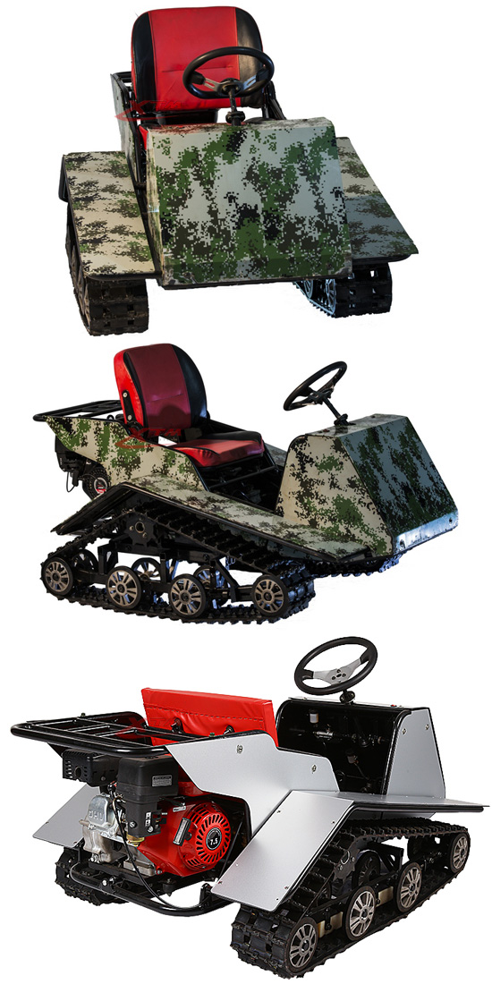Kids Safe Min Rubber Track Ice Racing Child Snowmobile