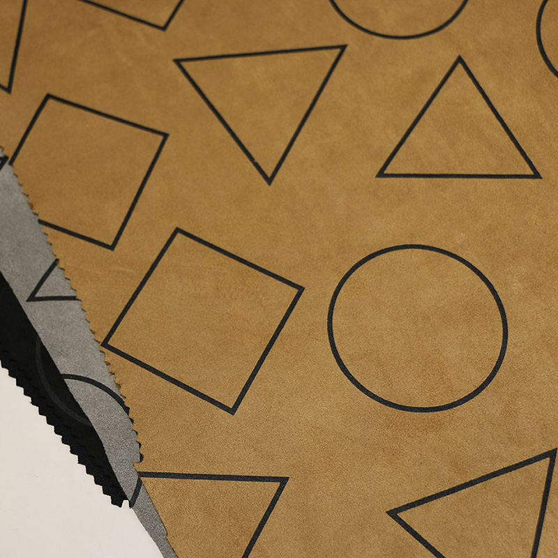 Geometry Designs Suede Fabrics for Coat/Jacket