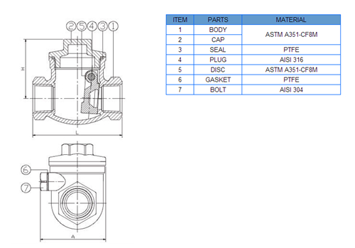 China Factory 200wog Casted Swing Check Valve of ASME B1.20.1