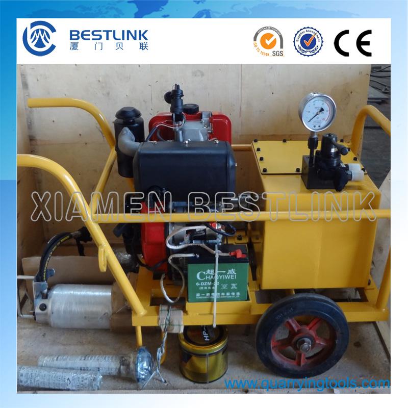 Pneumatic Engine Hydraulic Splitter Machine for Hard Rock