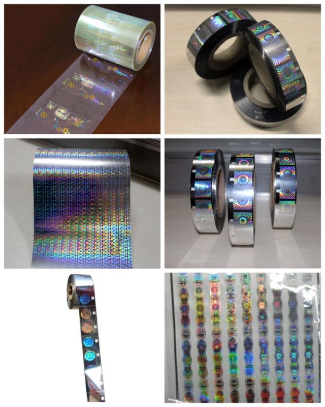 Silver Laser Roll Hologram Hot Foil Stamping