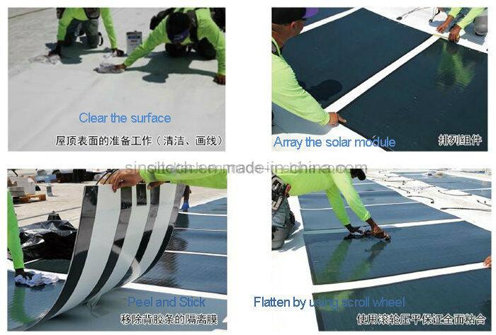 CIGS 120W Thin Film Flexible Solar PV Panels with 16.5% Efficiency