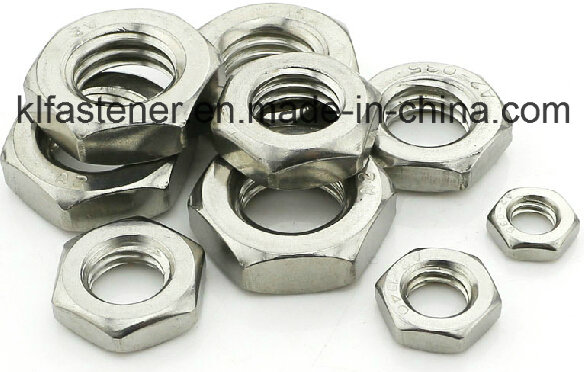 Stainless Steel Hex Thin Nut DIN439