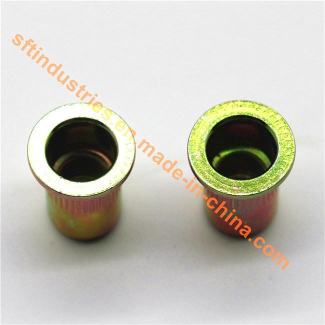 M6 Flat Head Knurled Round Body Blind Rivet Nut ISO13918