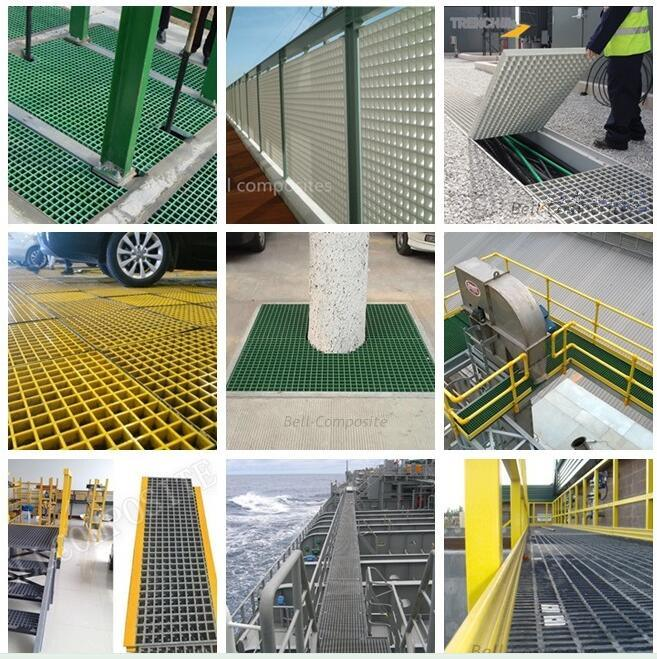 FRP/GRP Stairtread Cover, Fiberglass Stairtread, an-Slip Stair Nosing.