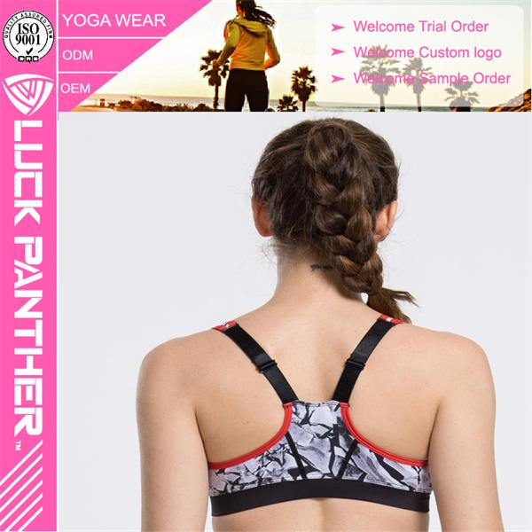 Wholesale 2016 Sexy Sublimated Padded Supportive Sports Bra