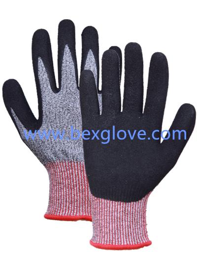 13 Gauge Anti-Cut Liner, Cut Resistance up to Level 5, Nitrile Glove