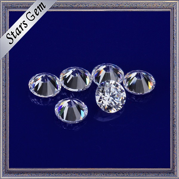 Wonderful Star Cut White Color 3mm Round CZ Stones Cubic Zirconia for Jewelry Making