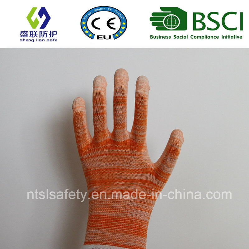 Orange PU Coated Work Safety Glove (SL-PU201O)