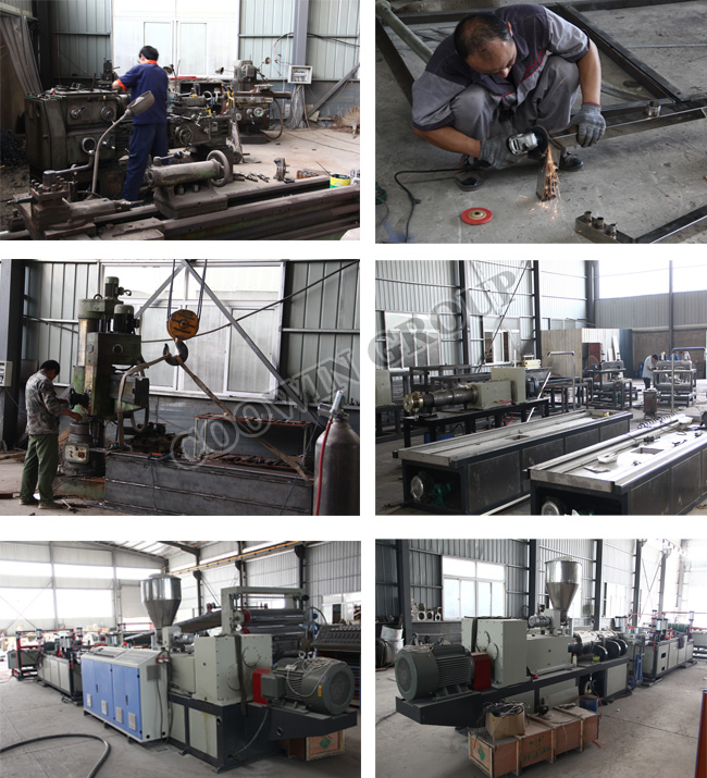 WPC Decorative Board Production Line PVC Wood Plastic Co - Extrusion Machine