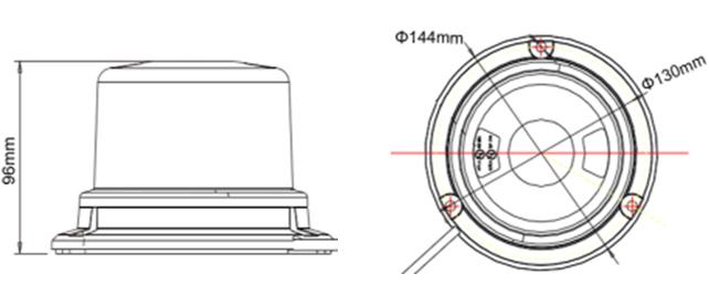 10-30V Amber Flash Warning Light Beacon LED Light Emergency Lightbar