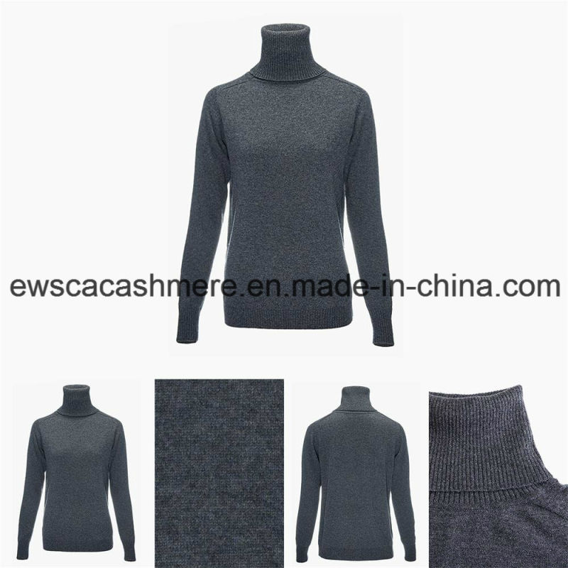 Women's Long Sleeve Turtle Neck Top Grade Pure Cashmere Sweater