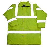 Polyester Oxford PVC PU Non-Breathable Parka Reflective Clothes Rain Coat