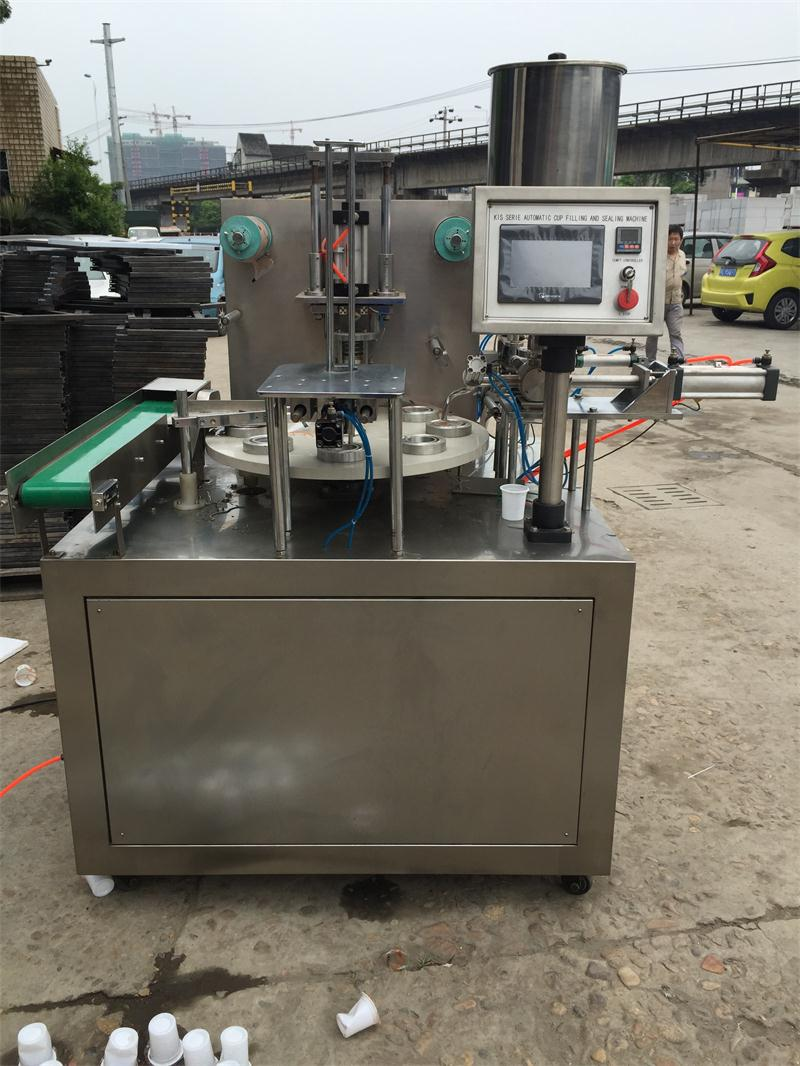 Hongzhan Kis900 Automatic Rotary Type Cup Filling and Sealing Machine