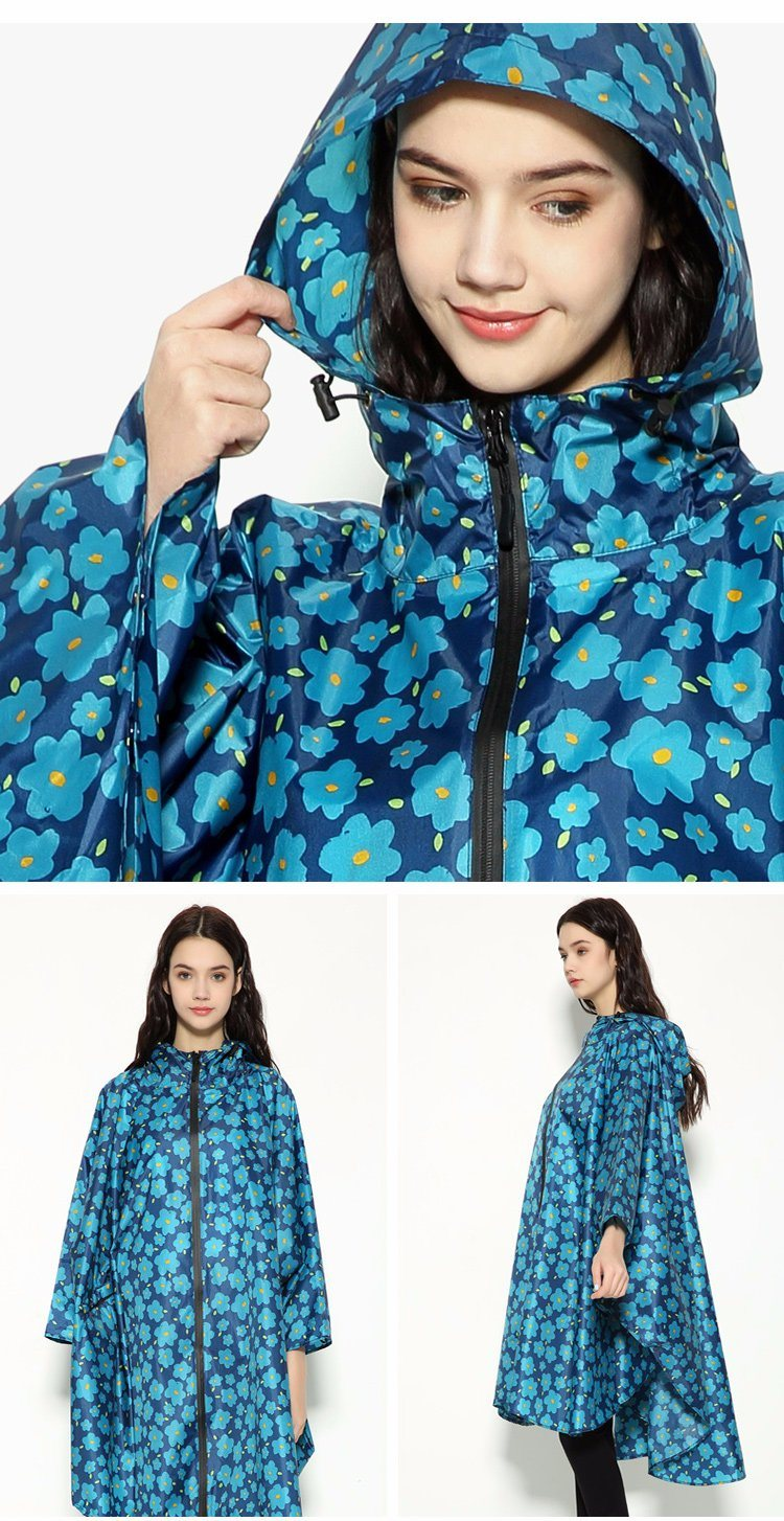 Adult Female Fashion Ponchos Hiking Bicycle Riding Motorcycle Riding Electric Large Size Thin Waterproof Raincoat 2018