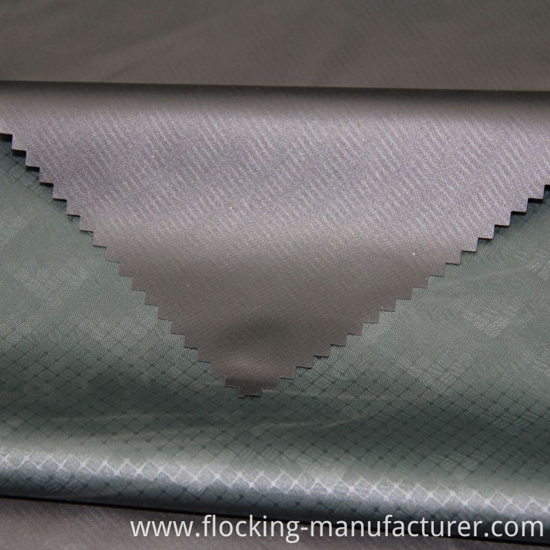 Fashion Embossed Fabric with PU Coat for Men's Wear