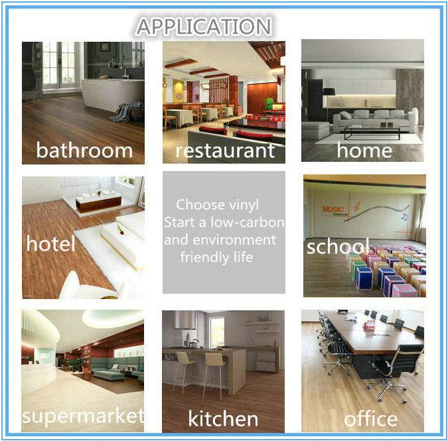 Wood Grain PVC Luxury Planks Dry Back Floor