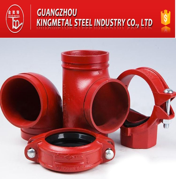 ASTM A536 Casting Ductile Iron Fire Grooved Coupling/Flange Adaptor/Cap/Elbow/Flange/Reducer Fittings