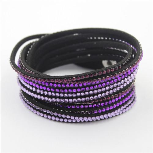 Wholesales Fashion Crystal Custom Bracelet Leather Bracelets
