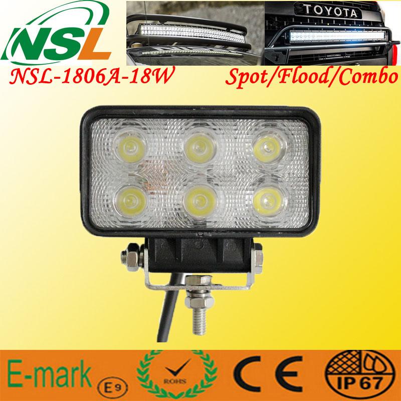 Epsitar LED Working Light 18W 10-30V LED Spot/Flood Light Waterproof LED Driving Lamp LED Bar Light